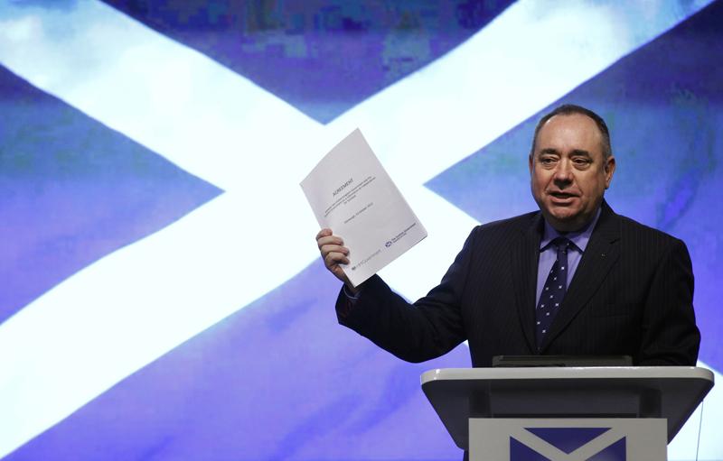 Škotijos premjeras Alexas Salmondas veda šalį į nepriklausomybę ir stipresnius ryšius su ES